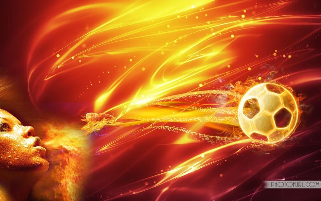 Fire Football Wallpaper Download Wallpapers 1024x640