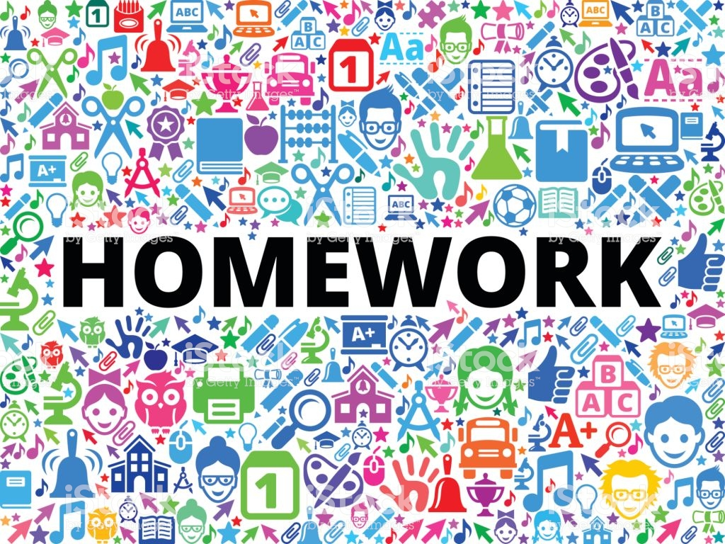 Homework School And Education Vector Icon Background Stock 1024x768