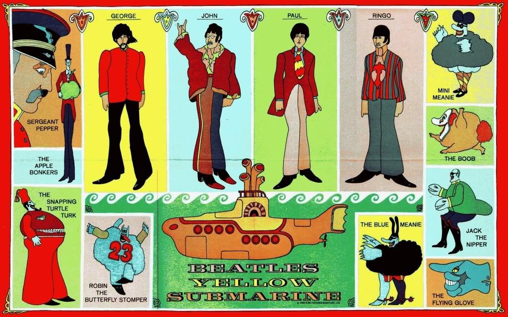 Yellow Submarine Comic Poster Wallpaper 1024x640