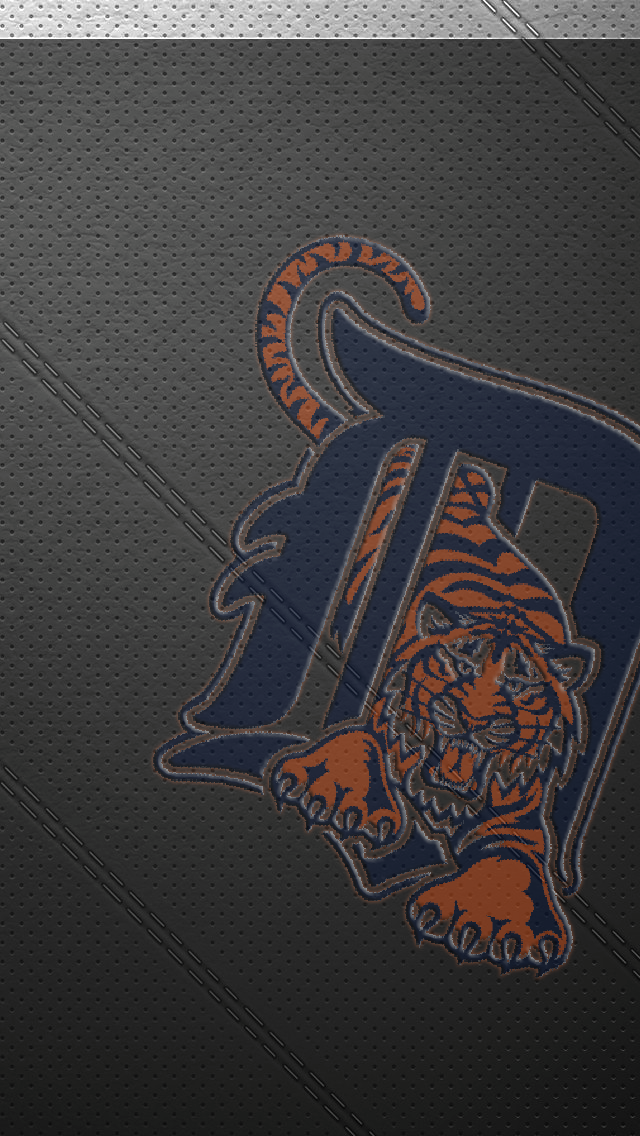 iPhone 5 Wallpaper Leather detroit tigers 640x1136