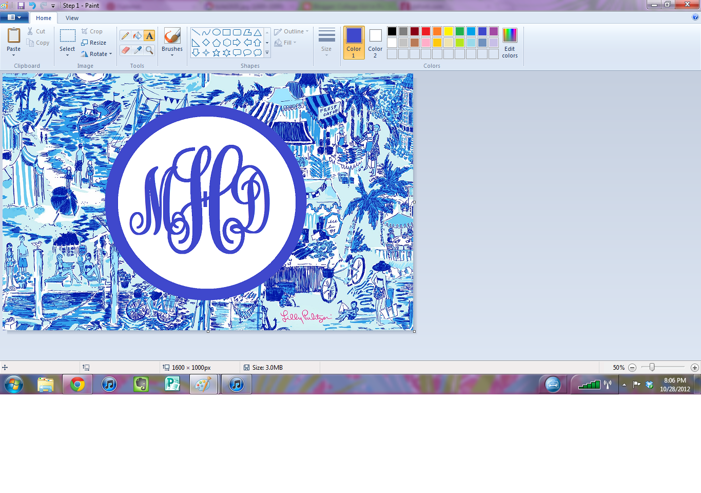 Free download in Pearls DIY Monogram Desktop Backgrounds