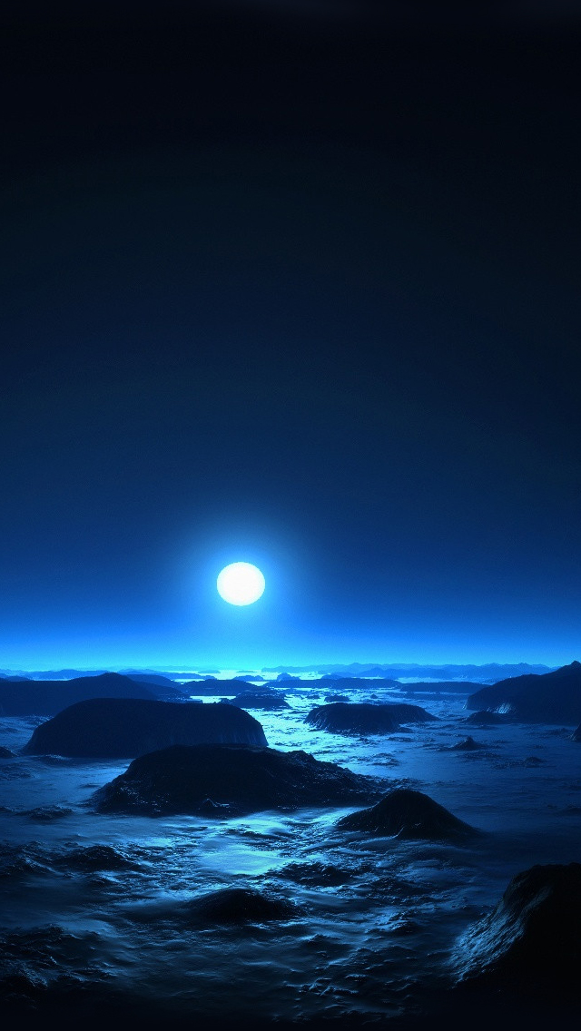 Moon at midnight iPhone 5s Wallpaper Download iPhone Wallpapers 640x1136