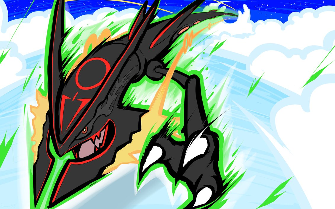 49 shiny mega rayquaza wallpaper on wallpapersafari