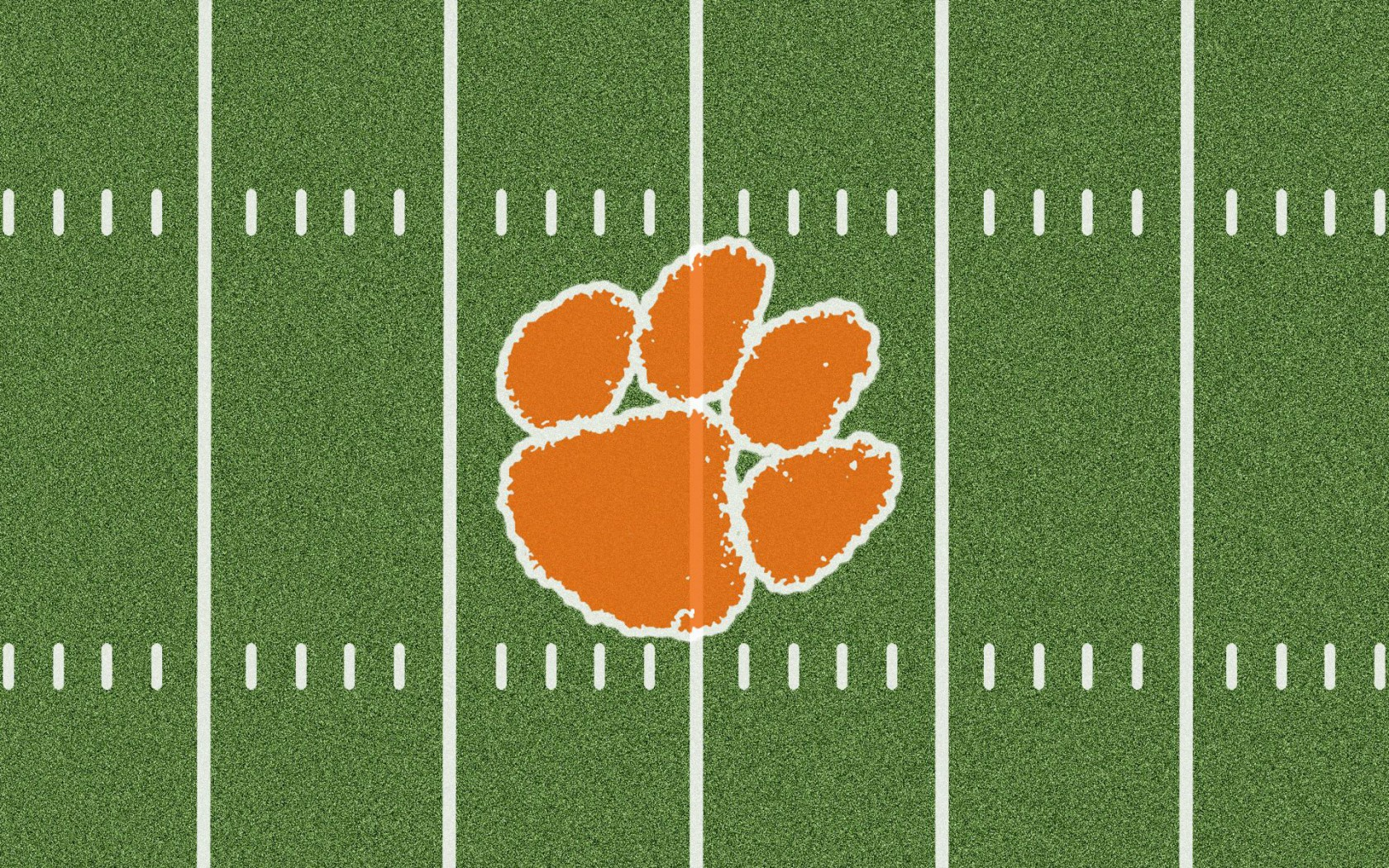 Football Field Clemson Logo On 958261 With Resolutions 16801050 1680x1050