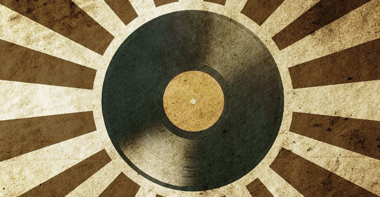 Retro Vinyl Record Wallpaper Wall Decor 769x400