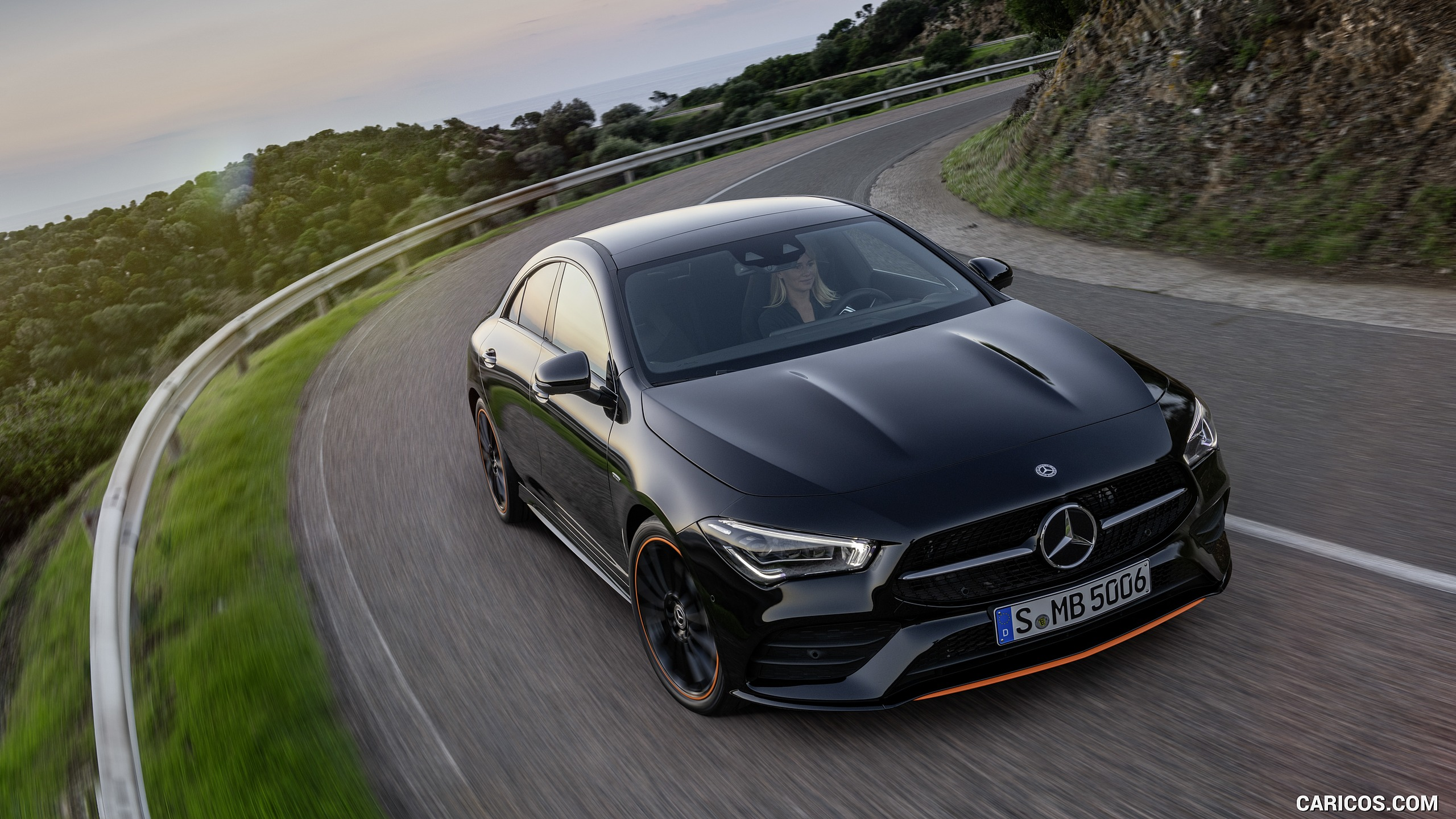 2020 Mercedes Benz CLA 250 Coupe Edition Orange Art AMG Line 2560x1440