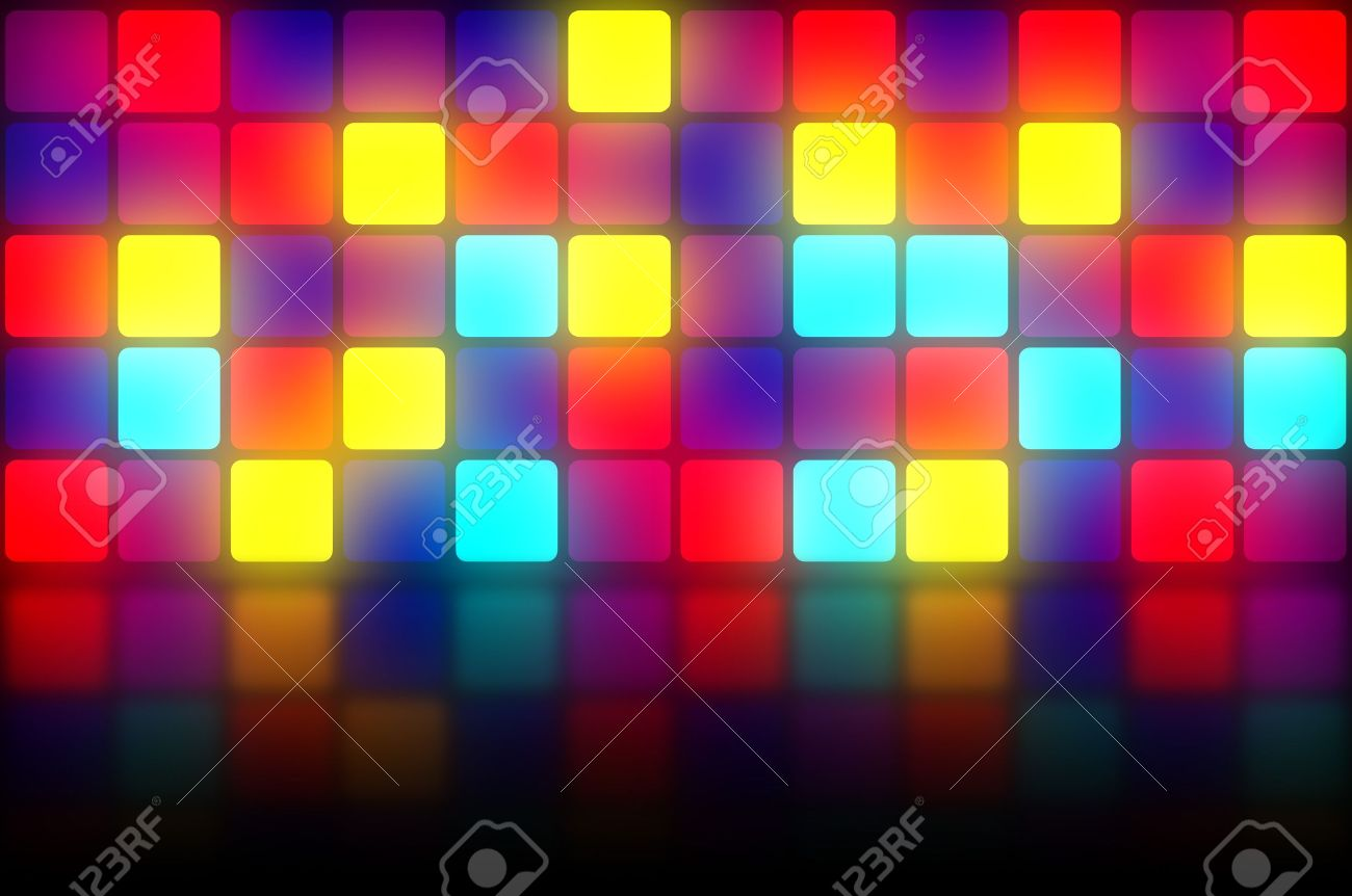 Colorful 80s Club Dancefloor Background With Glowing Light Grid 1300x862