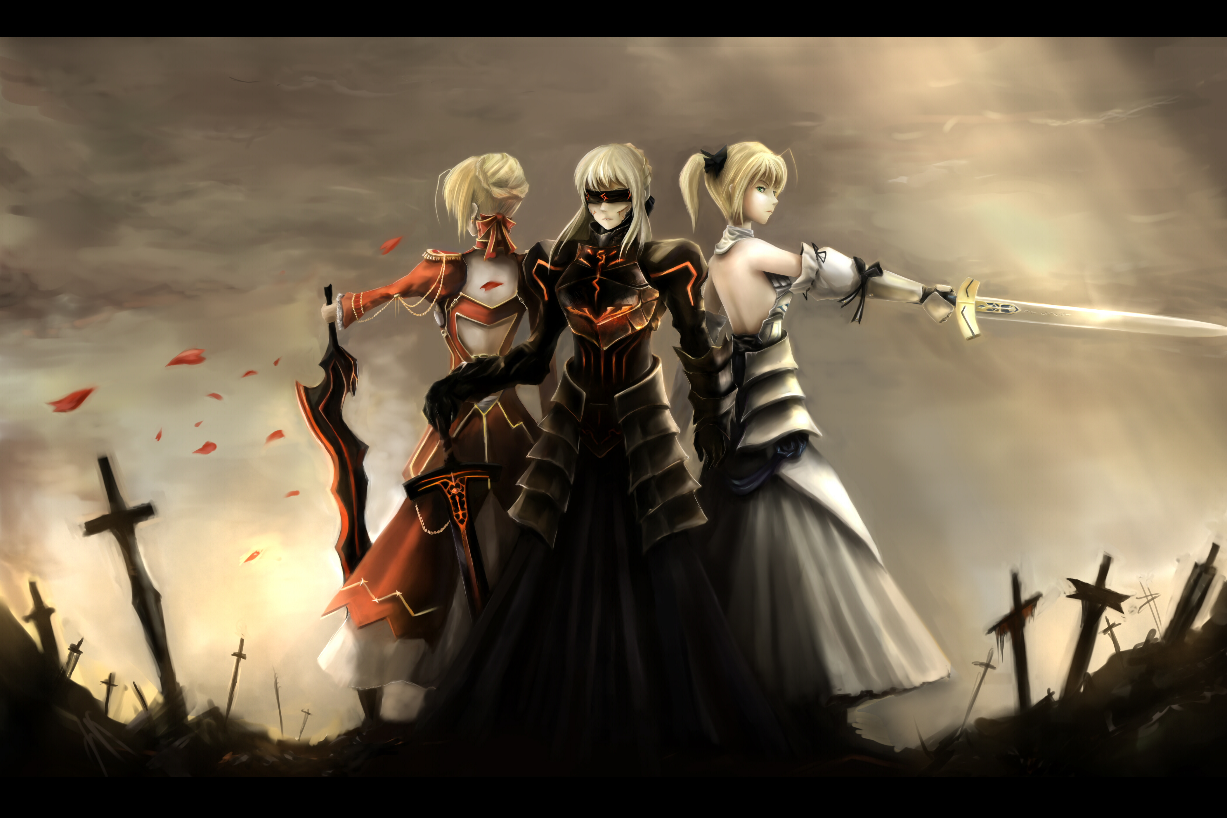 fate extra fate stay night nopnop saber sword weapon wallpaper 4200x2800