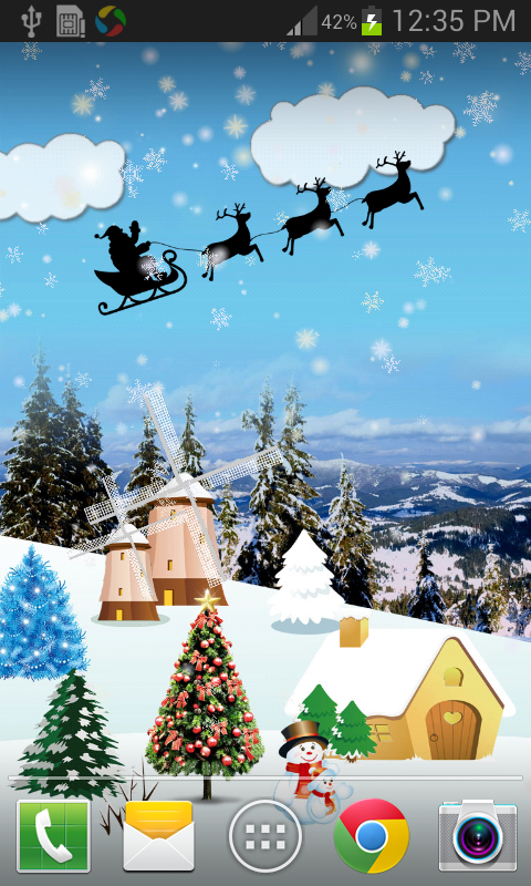 Christmas Live Wallpaper FREE   Android Apps on Google Play 480x800