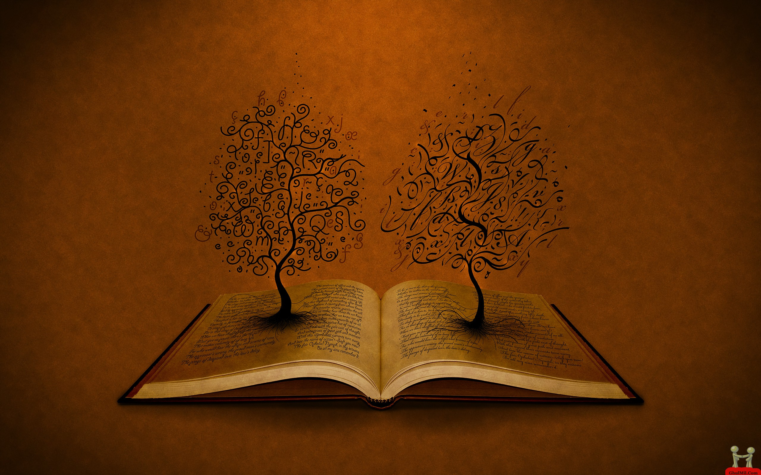 3D Trees On Open Book HD Wallpaper E Entertainment 2560x1600