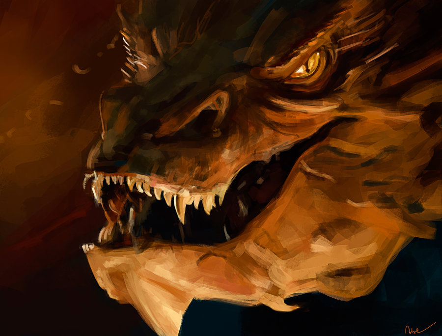 Smaug Wallpaper Smaug by namecchan 900x684