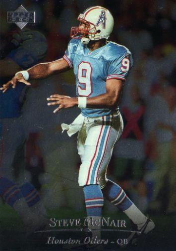 HOUSTON OILERS   Steve McNair 132 Foil UPPER DECK 1996 Silver NFL 355x504