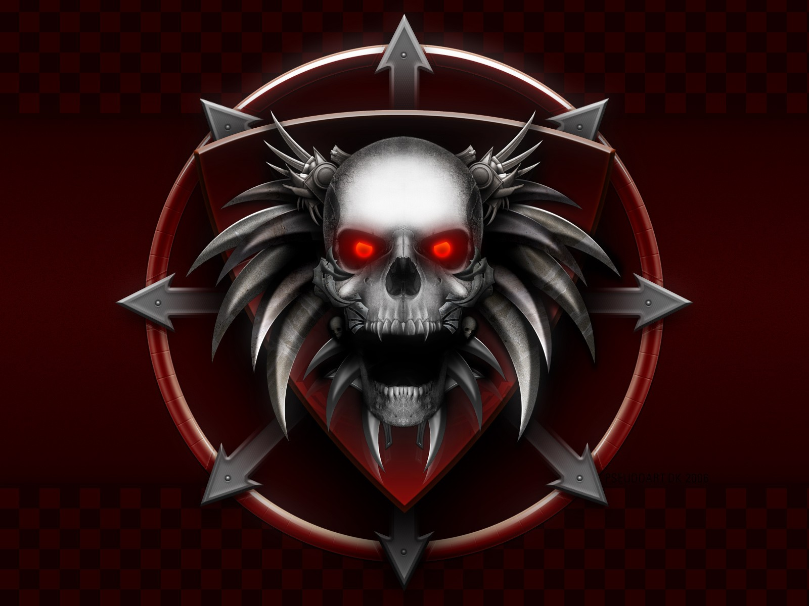 Dark horror skull occult evil demon wallpaper 1600x1200 29082 1600x1200
