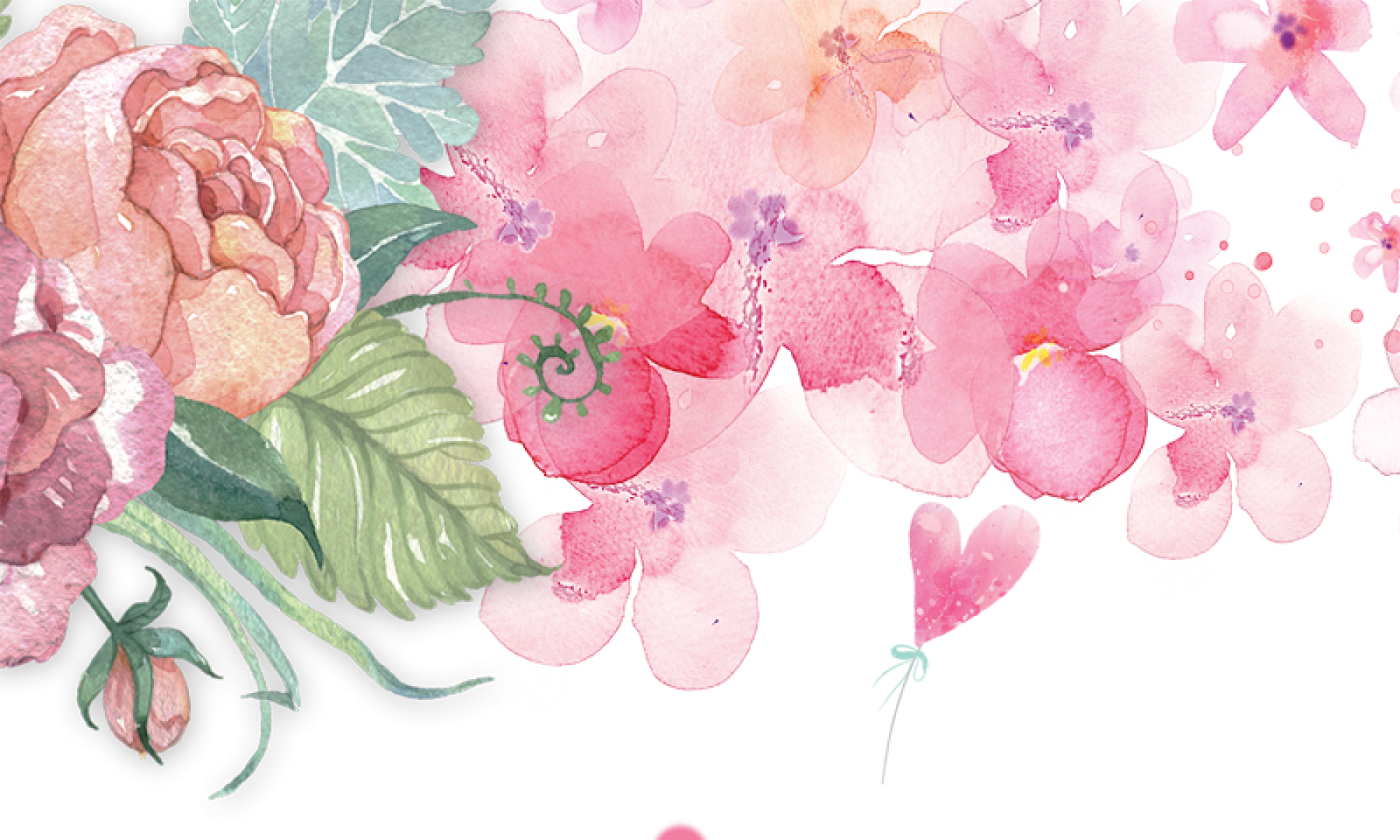 Free download HD Pretty Pursuit Pink Flower Watercolor ...