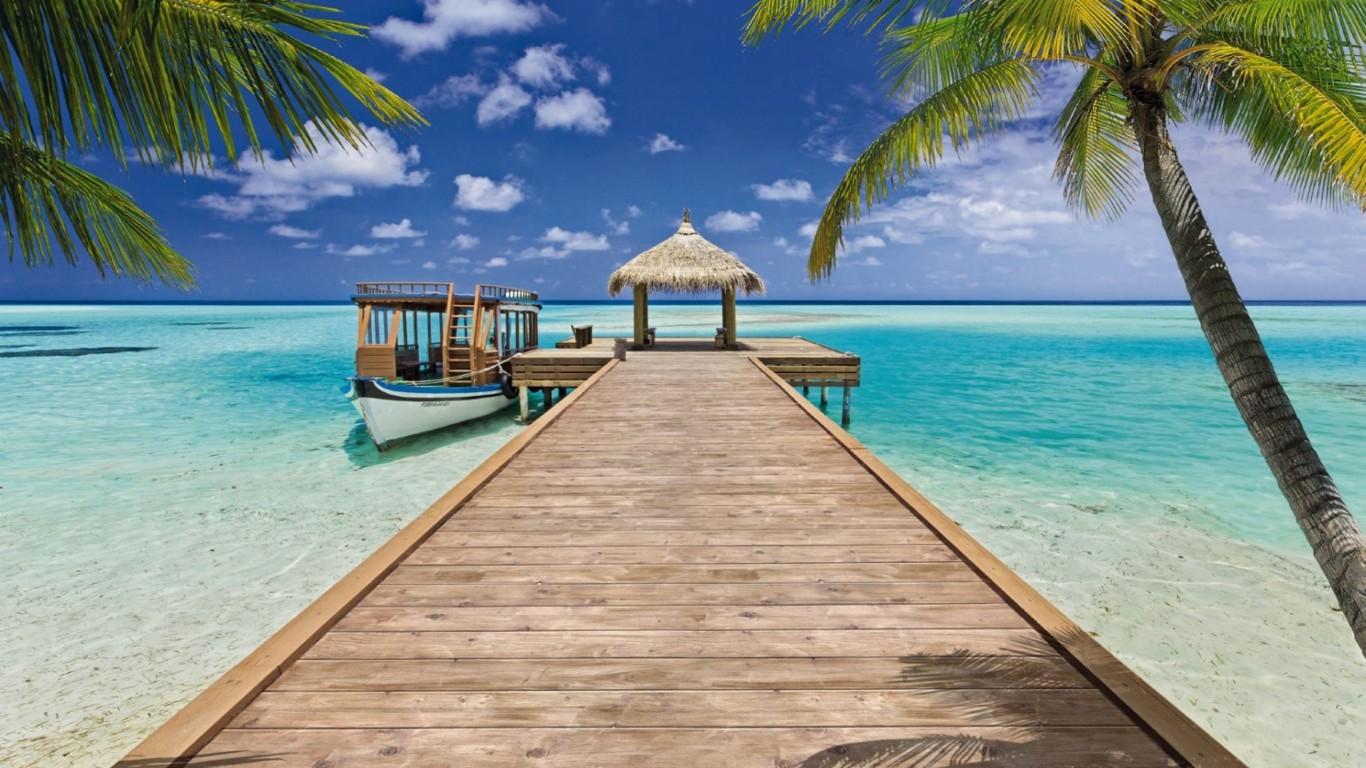 Beach Resort Beach Wallpaper 1368 Wallpapers13com 1366x768