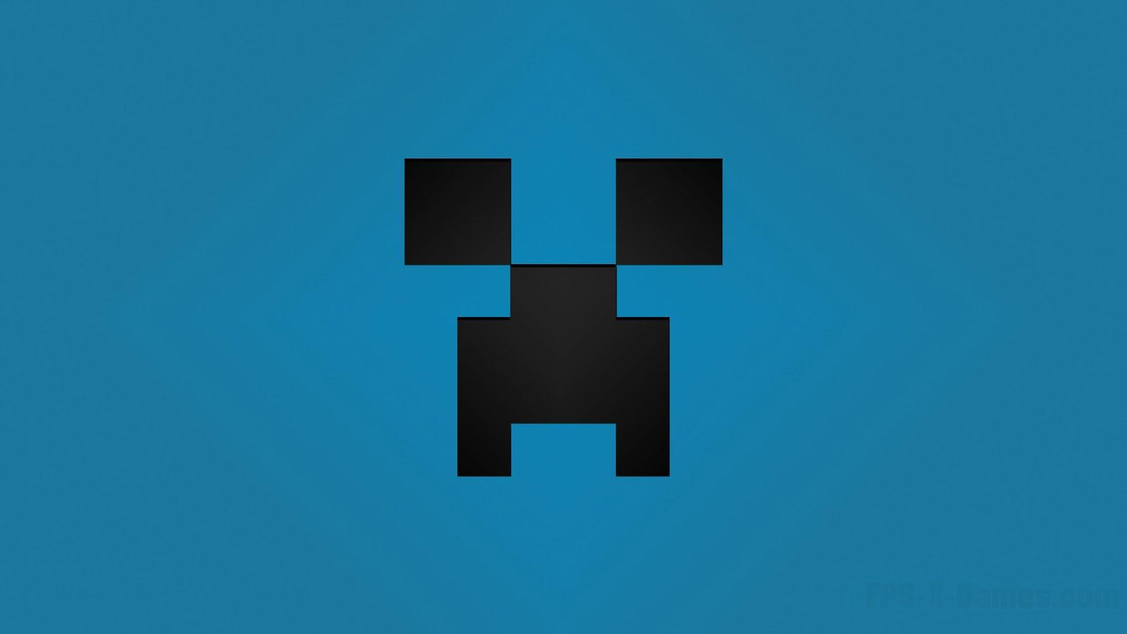 39+] Minecraft Blue Creeper Wallpaper