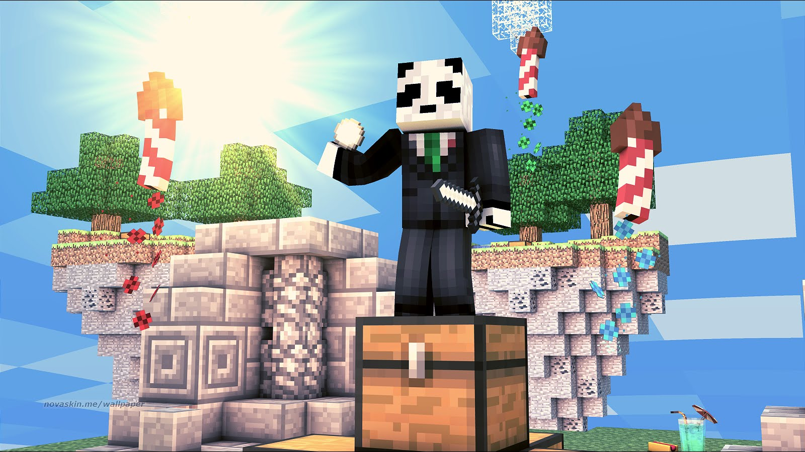 Minecraft How To Make A Super Easy Background With Your Own Skin 1600x900