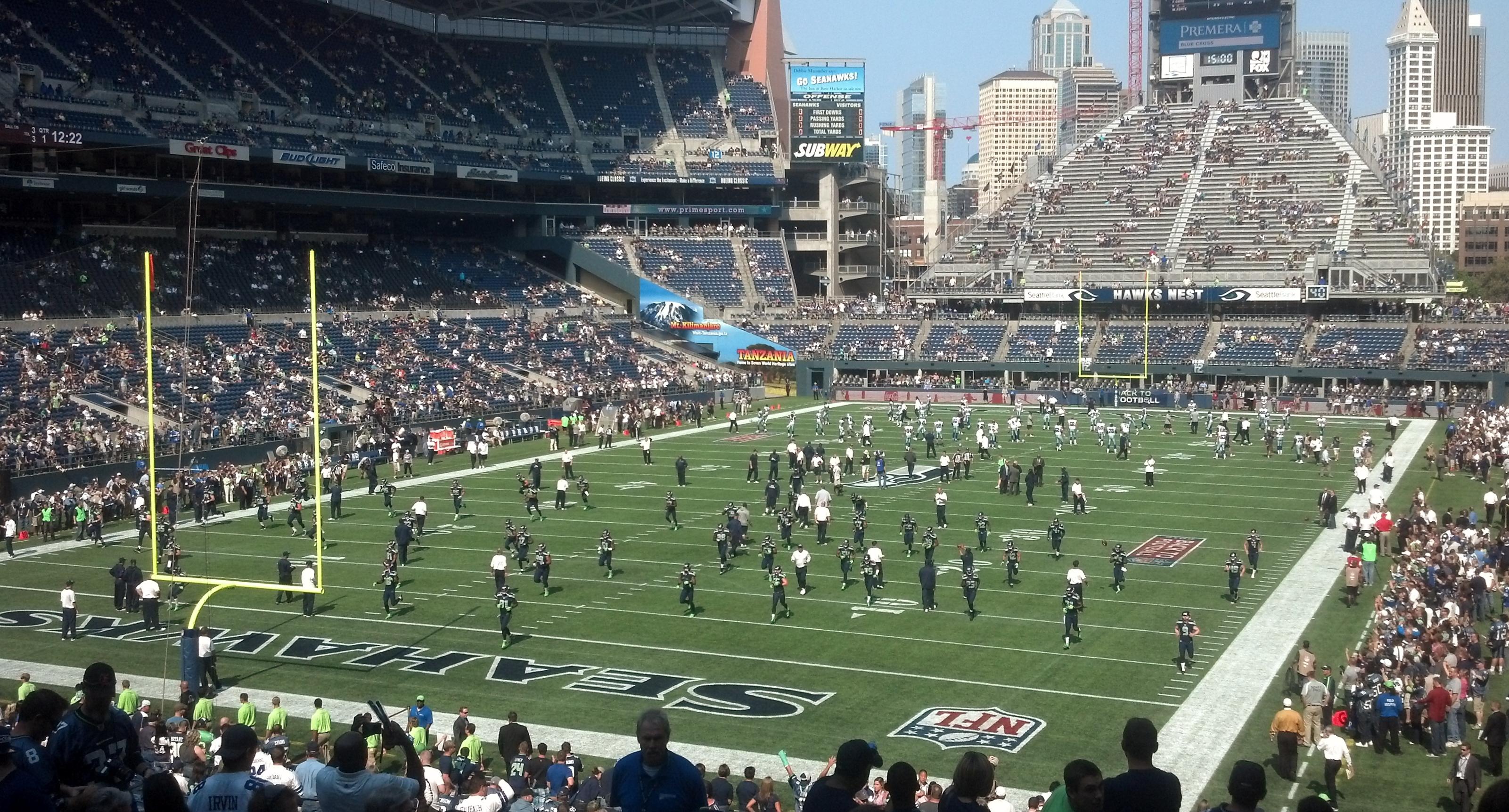 Nfl Football Stadium Background Seattle seahawks nfl football 3202x1724