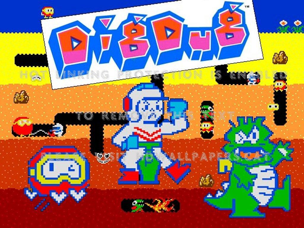 dig dug pooka arcade game namco classic 1024x768