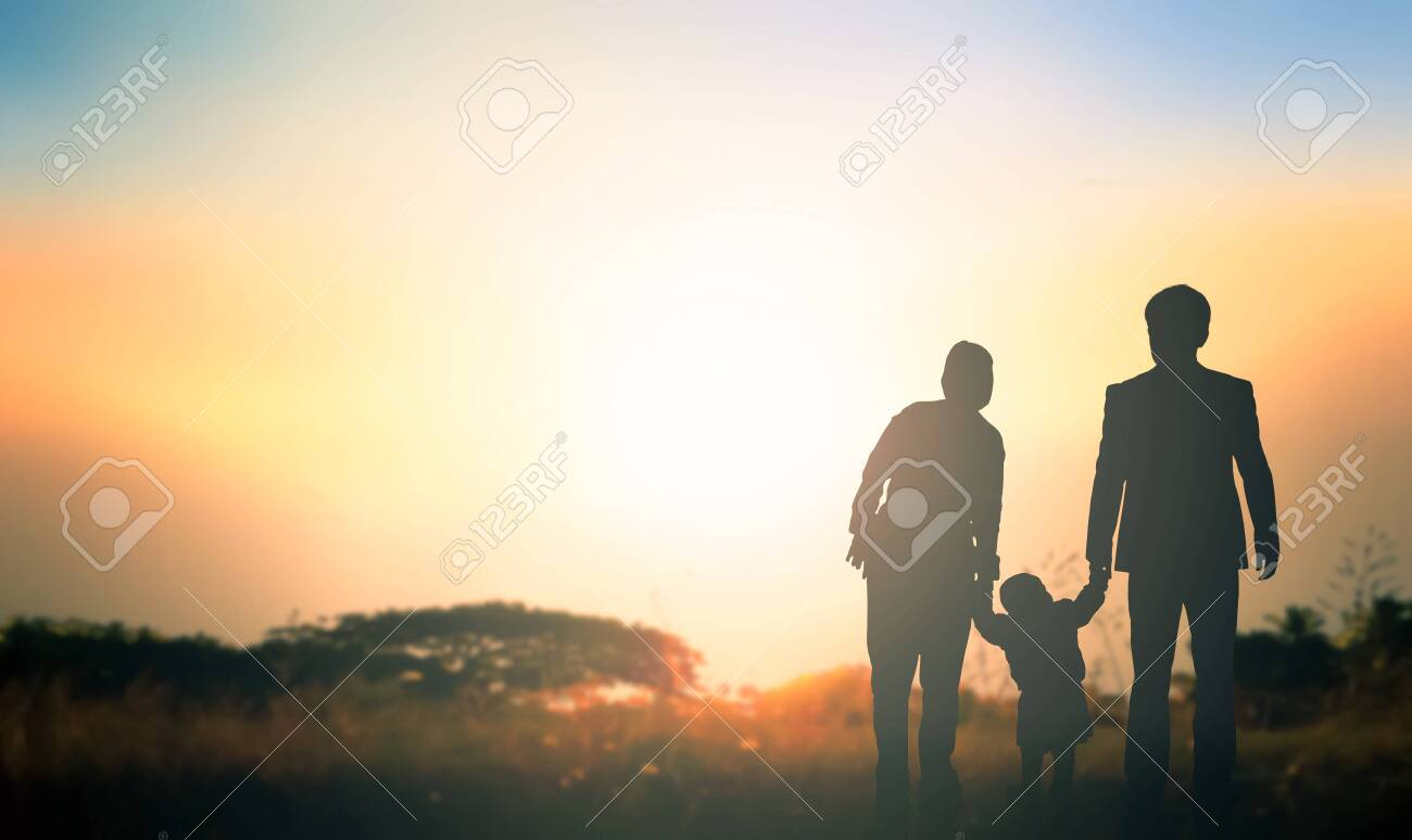 Global Day Of Parents Concept Family At Sunrise Background Stock 1300x774