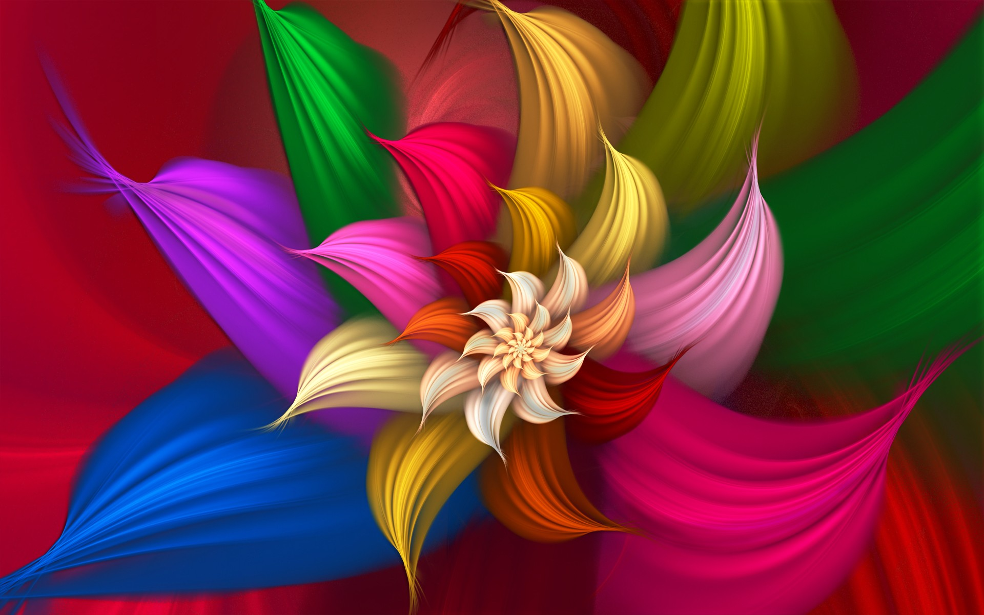 Colorful Abstract Flower wide Wallpaper   New HD Wallpapers 1920x1200