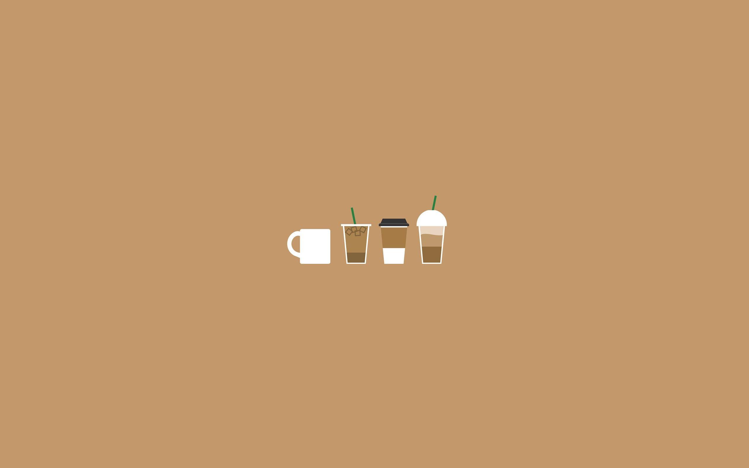 Coffee Illustration Aesthetic desktop wallpaper Minimalist 2560x1600