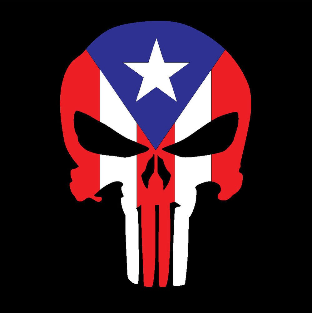 Puerto Rico Car Decal Sticker Punisher Skull with Flag 271 eBay 999x1000