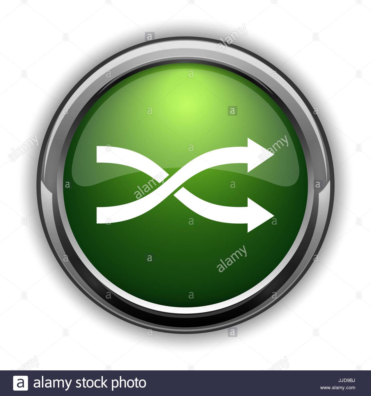 Shuffle icon Shuffle website button on white background Stock 1300x1390