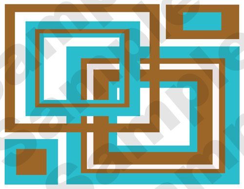 Blue Brown Brown Squares Wall Decal Teen Wall Wallpapers Border 500x386