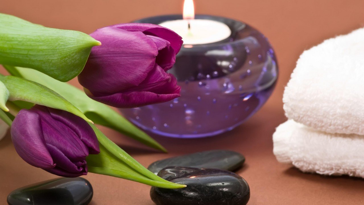 Shades of Purple Spa HD desktop wallpaper Widescreen High 1280x720