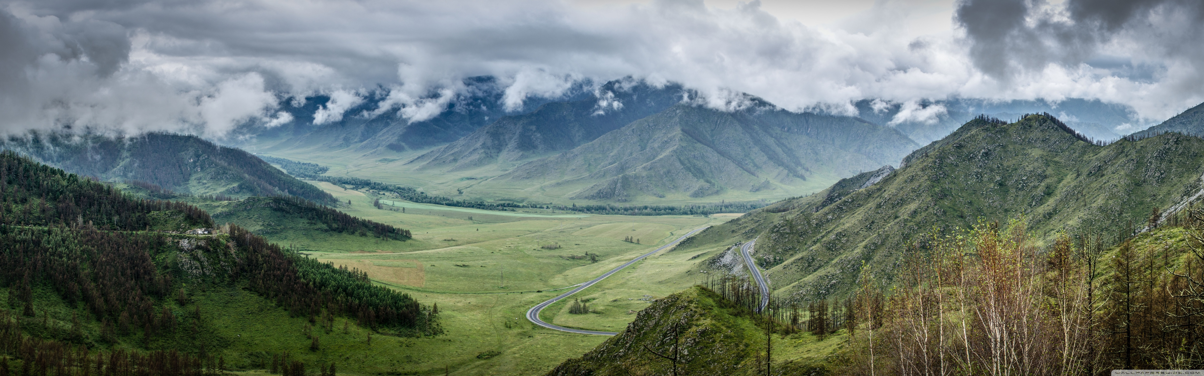 Altai Mountains Russia 4K HD Desktop Wallpaper for 4K Ultra HD 5120x1600