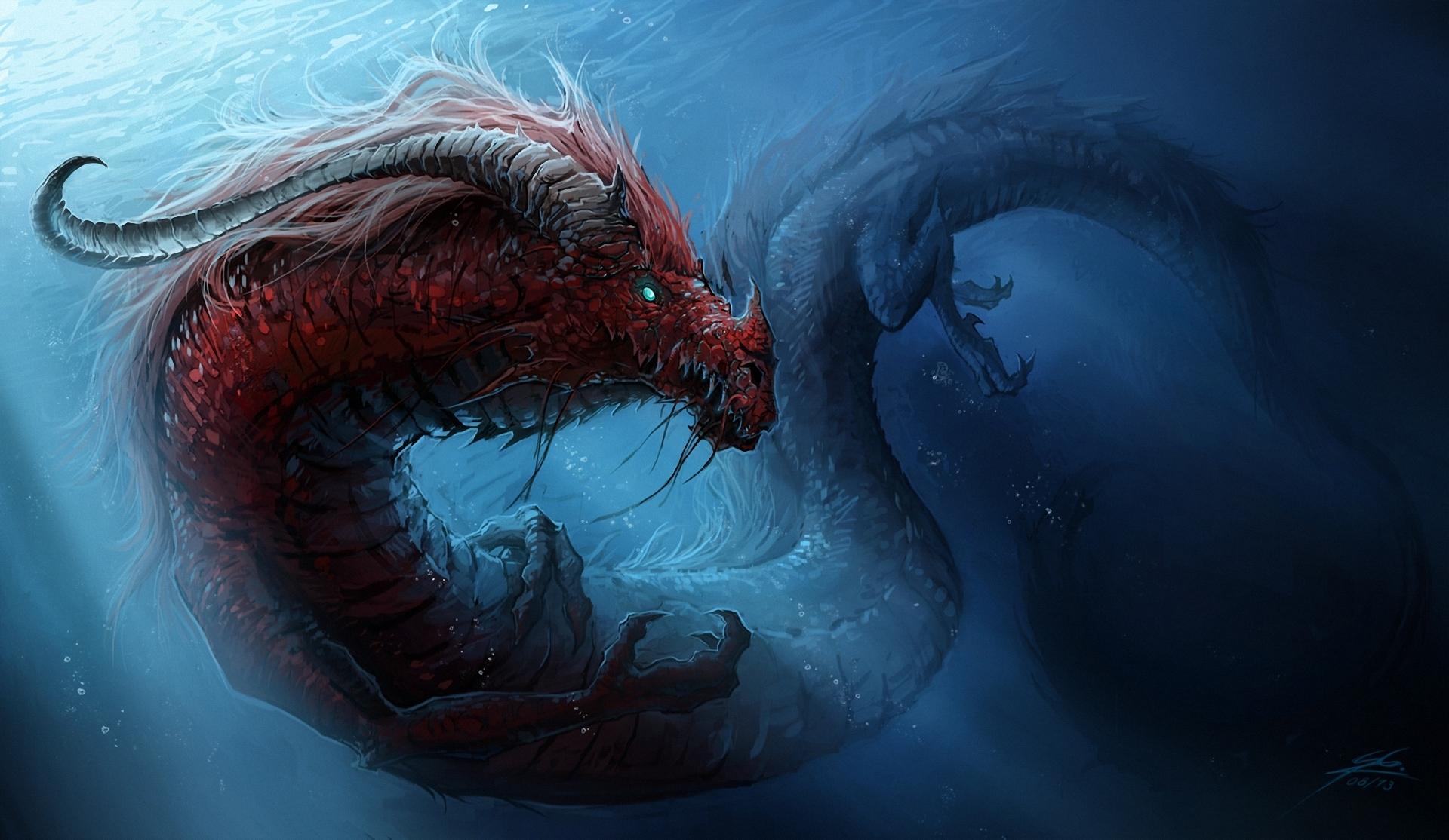 Dragons Underwater world Chinese dragon wallpaper 1920x1114 133726 1920x1114