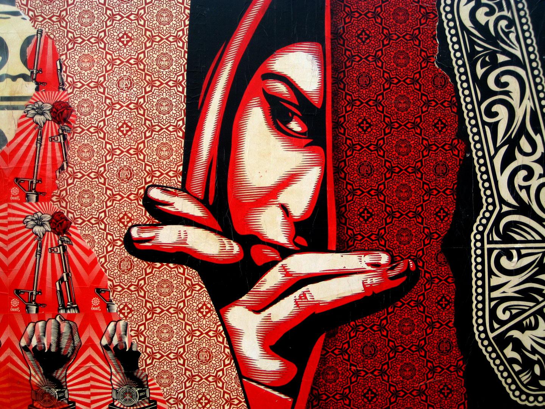 Wallpaper Shepard Fairey Illustrazion 1440x1080