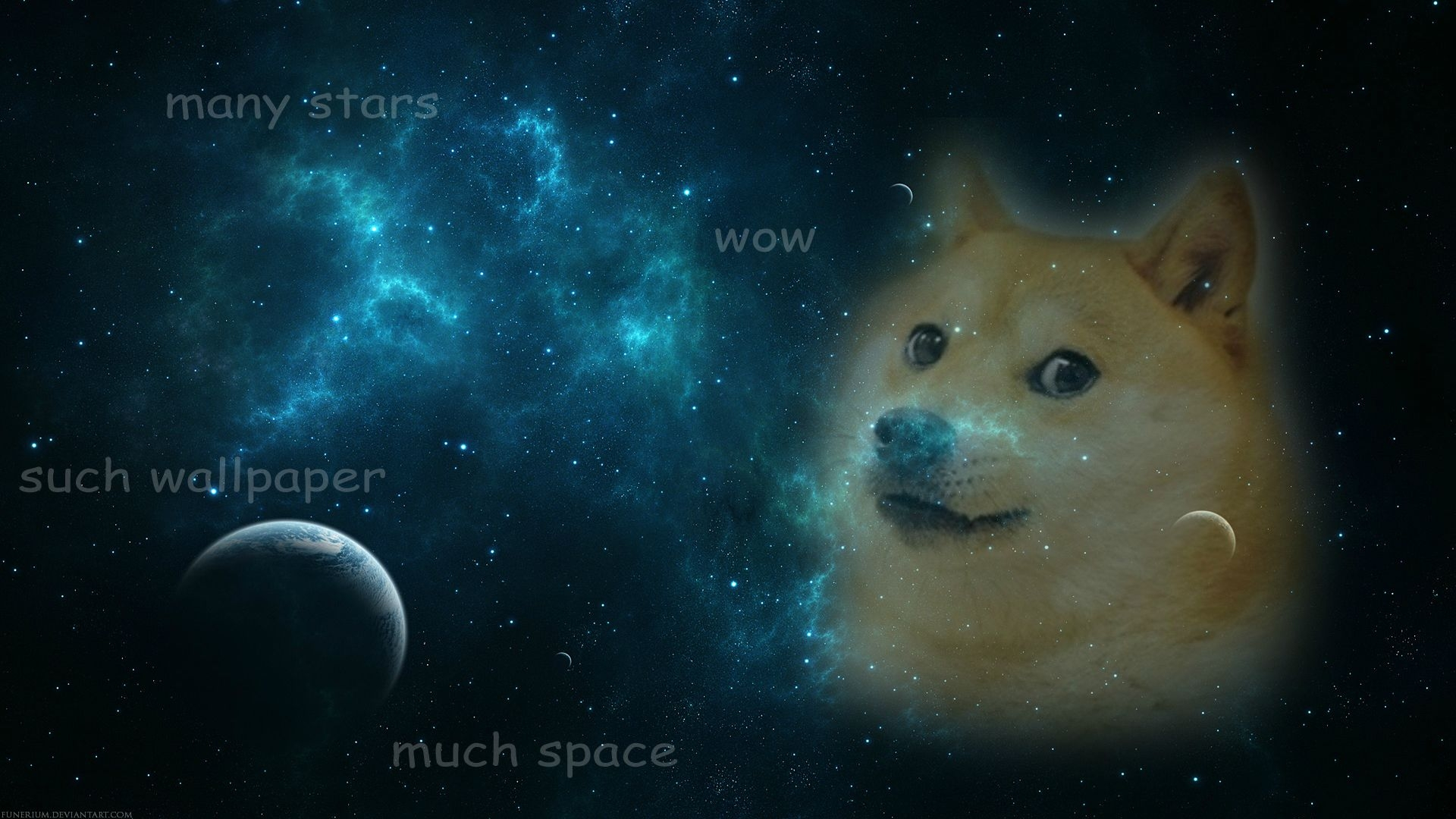 Doge in Galaxy   Doge Wallpaper 1920x1080 46174 1920x1080