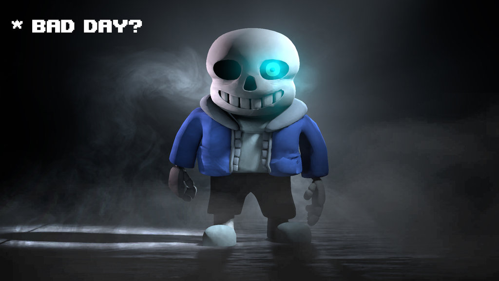 Undertale sans poster by Dr dash 1024x576
