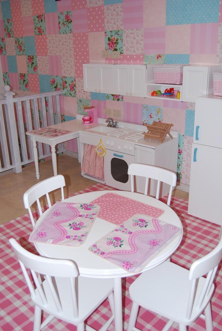Girls playroom Wallpaper patchwork Kids Interiors Pinterest 736x1096
