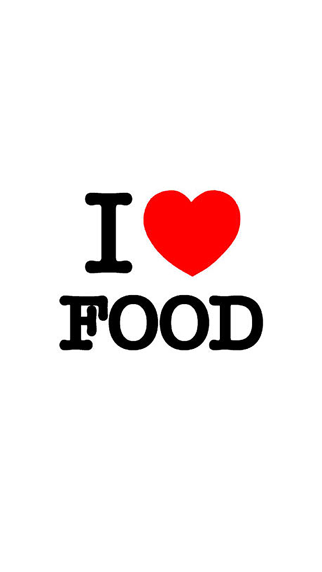 I Love Food iPhone Wallpaper HD 640x1136