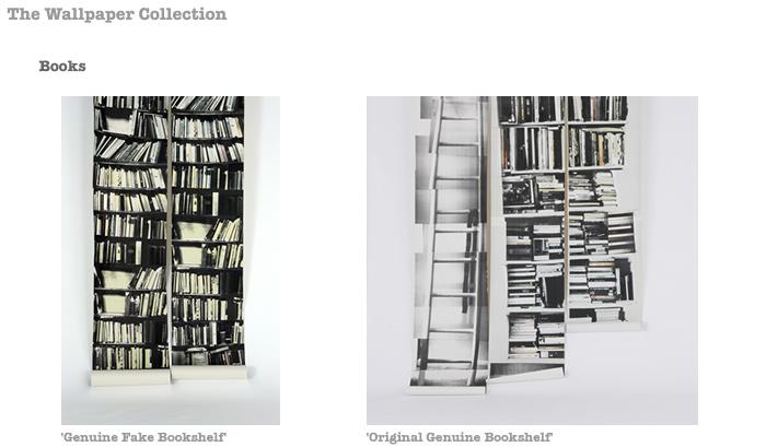 Genuine Fake Bookshelf Wallpaper By Deborah Bowness Book Art 700x409