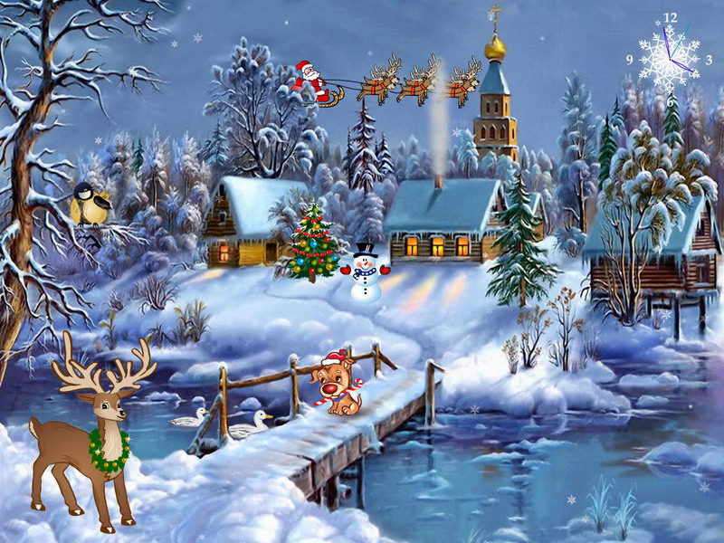 Christmas Screensaver   Christmas Symphony   FullScreensaverscom 800x600