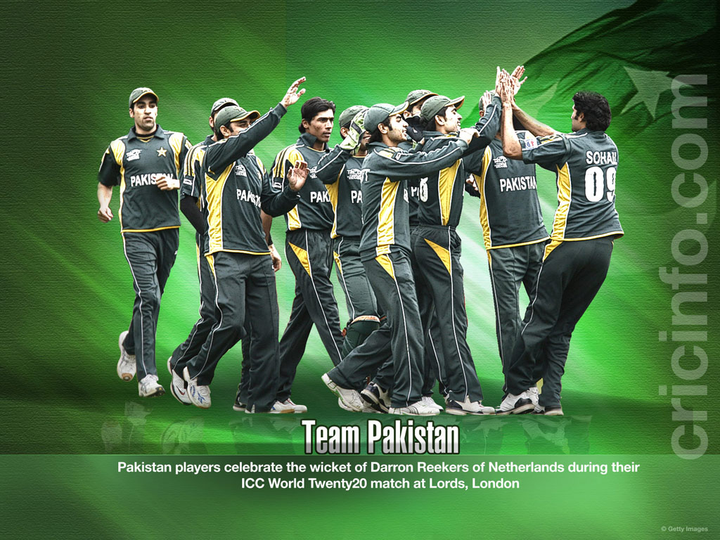 complete pakistan team wallpapers pakistan team shahid afridi picture 1024x768