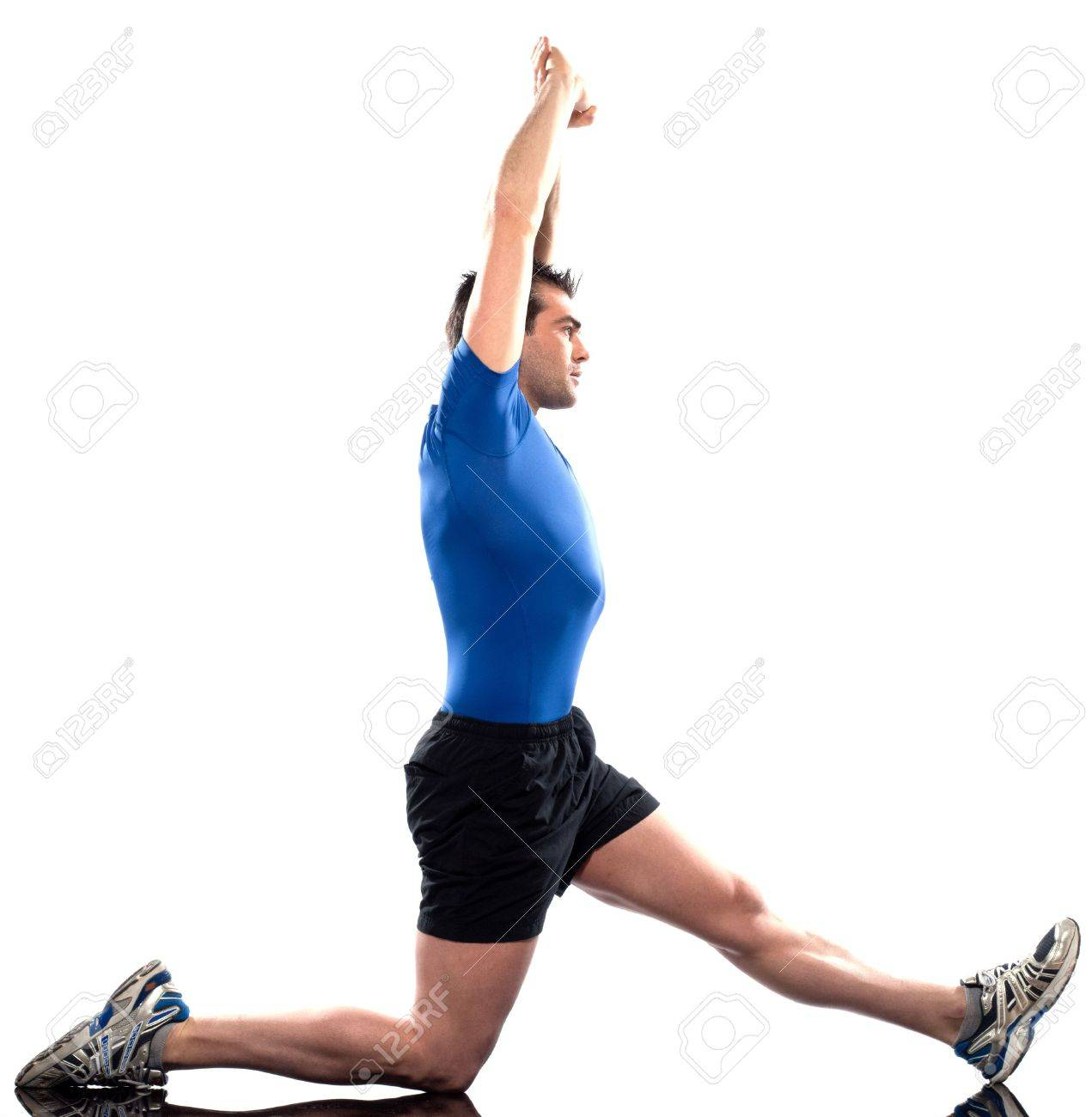 Stretching Workout Posture By A Man On Studio White Background 1271x1300