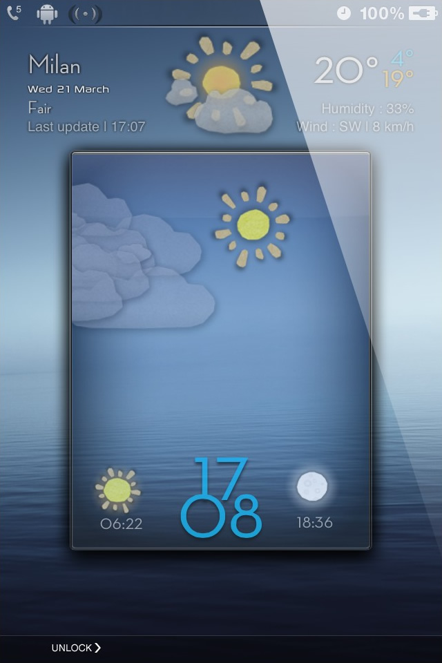LS CardBoard Animated Weather iPhone 4S theme   Abstract iPhone Themes 640x960