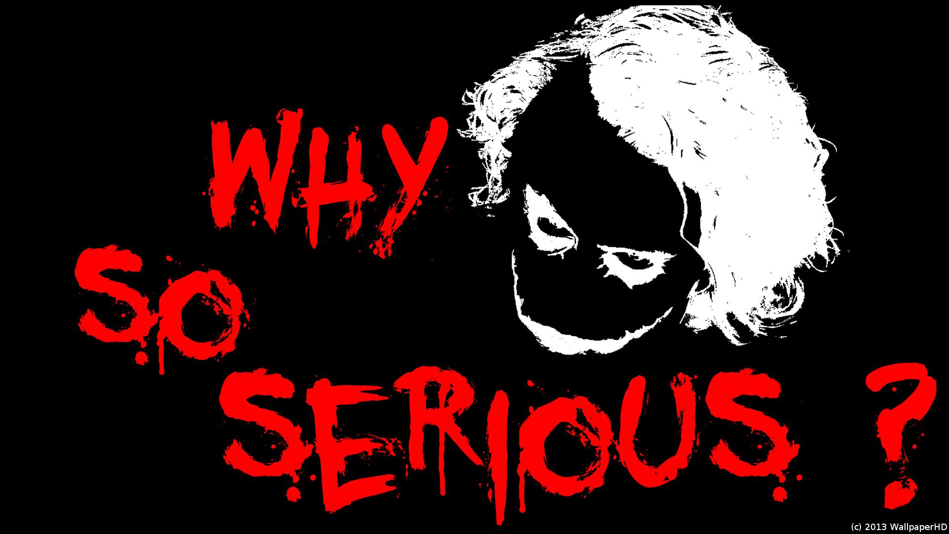70 Joker Why So Serious Wallpaper On Wallpapersafari