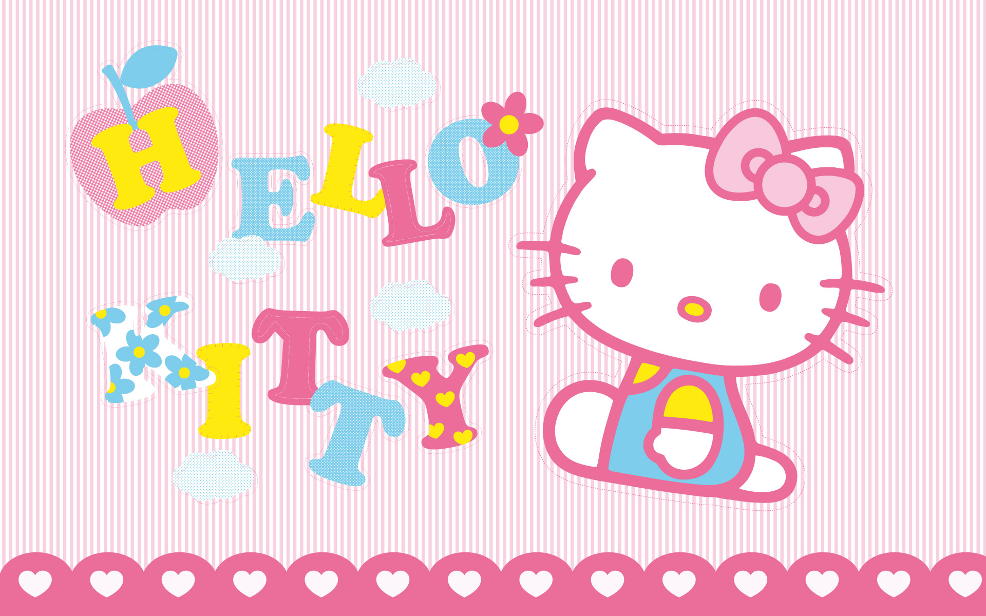 Free File Name Pink Background Hello Kitty