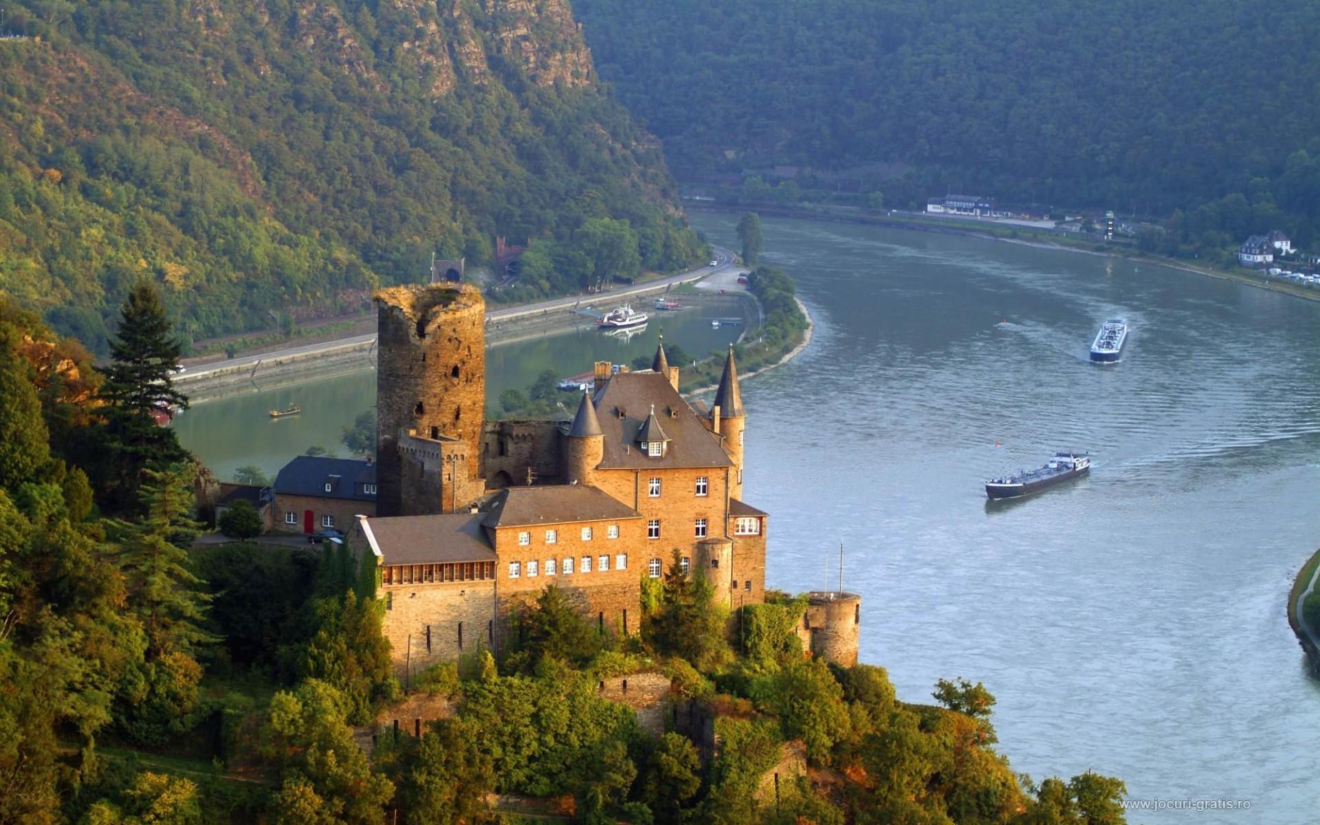 Germany castles Burg Castle Rhine valley Wallpapers 1920x1200