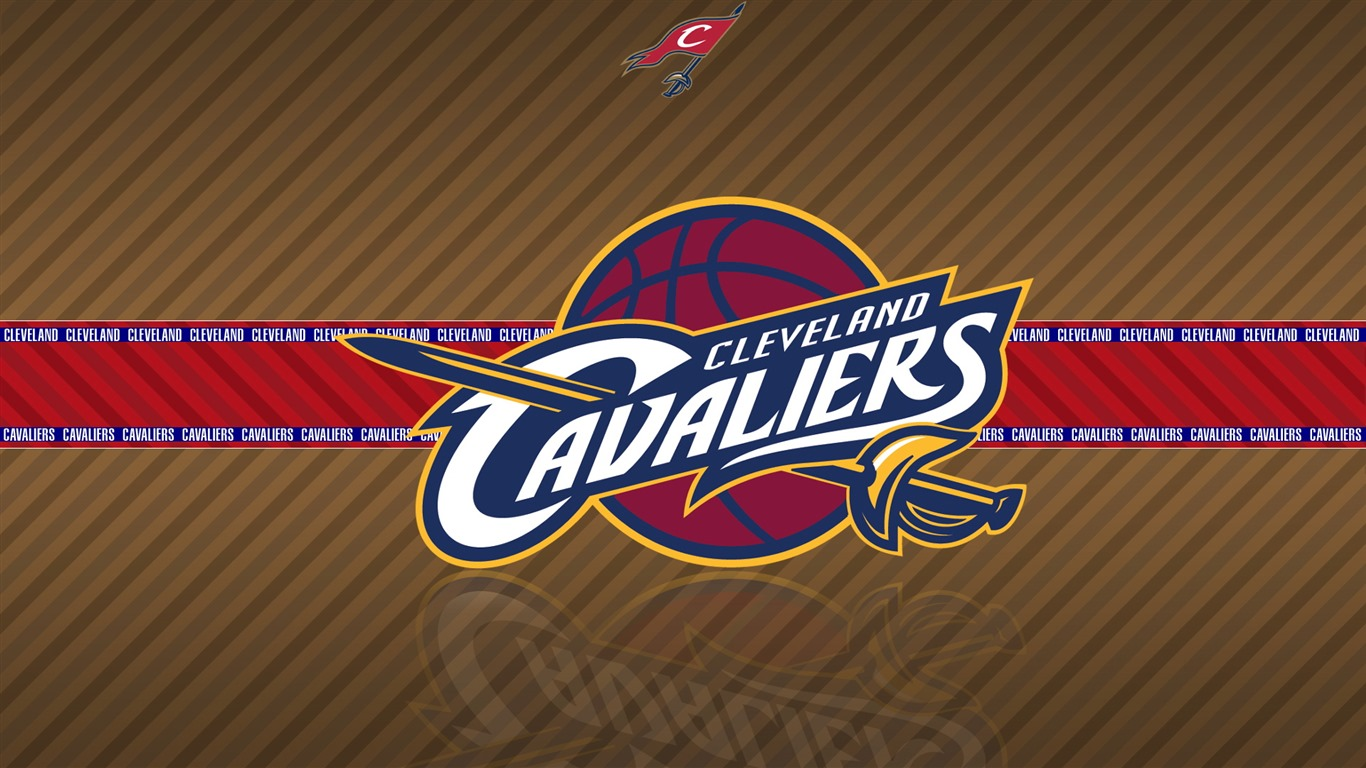 NBA Cleveland Cavaliers team logo widescreen HD wallpaper   1366x768 1366x768