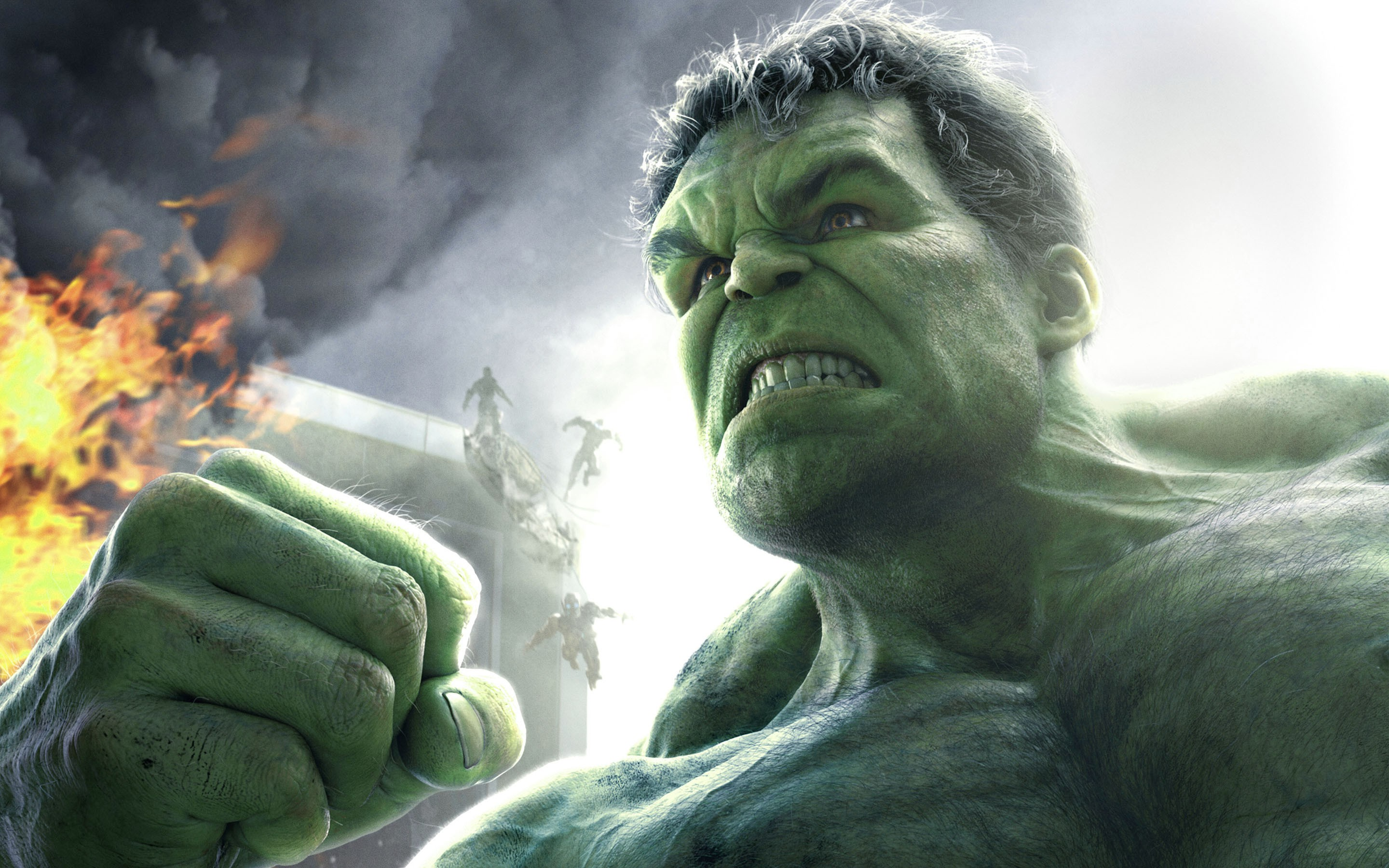 Hulk Avengers Fire Wallpapers 2880x1800