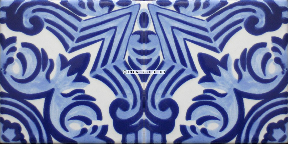 Mexican Design Border Mexican Talavera Border Tile 1000x500