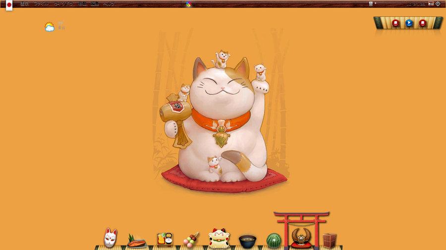 Lucky Cat Wallpaper Japan lucky cat by beautify gs 900x506