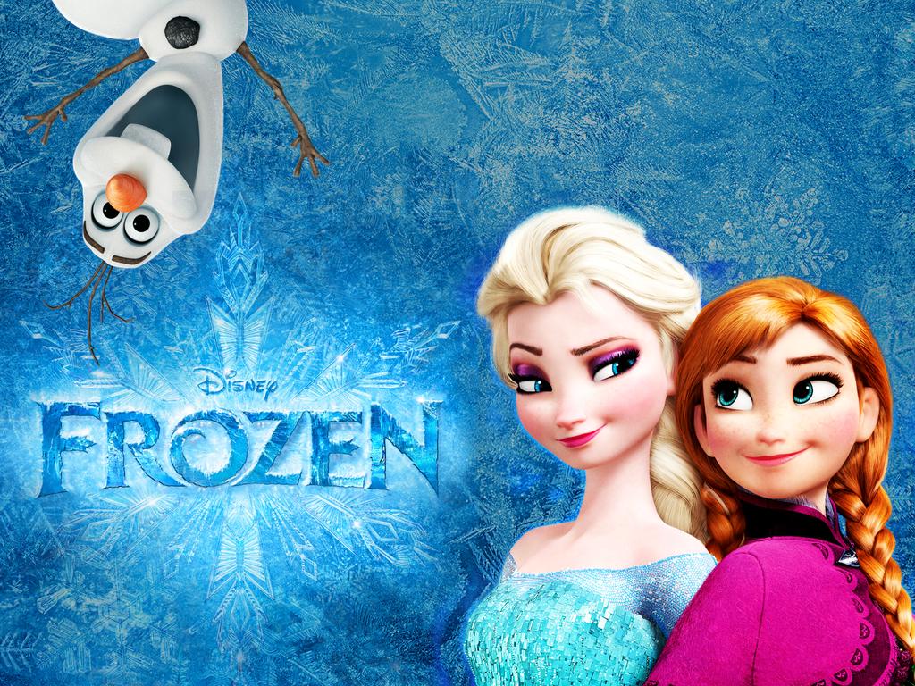 Anna Olaf And Elsa WallPaper 1024x768